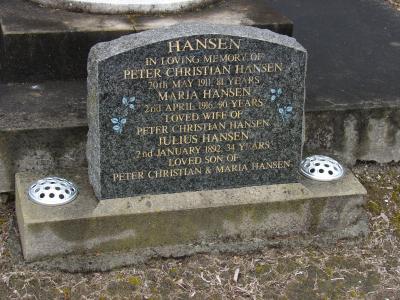 Picture of Makaraka cemetery, block MKH, plot 251.