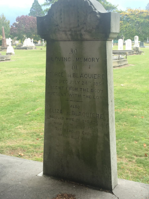 Picture of Makaraka cemetery, block MKH, plot 409.