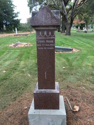 Picture of Makaraka cemetery, block MKJ, plot 846.