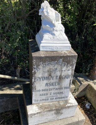 Picture of Ormond cemetery, block ORM1, plot 17.