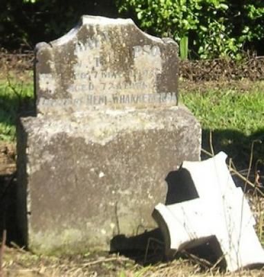 Picture of Ormond cemetery, block ORM1, plot 3.