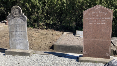Picture of Ormond cemetery, block ORM1, plot 41.