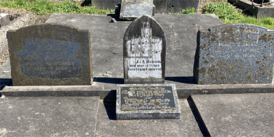 Picture of Ormond cemetery, block ORM1, plot 77.