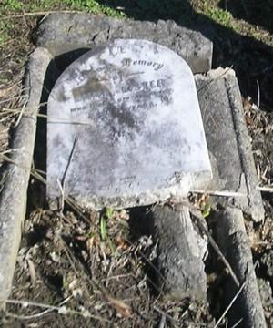 Picture of Ormond cemetery, block ORM1, plot 88.
