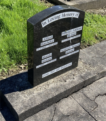 Picture of Ormond cemetery, block ORM1, plot 91.