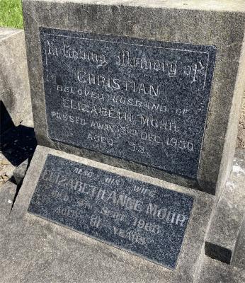 Picture of Ormond cemetery, block ORM2, plot 43.