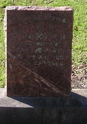 Picture of Ormond cemetery, block ORM2, plot 49.