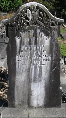 Picture of Ormond cemetery, block ORM2, plot 67.