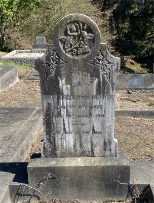Picture of Ormond cemetery, block ORM2, plot 77.