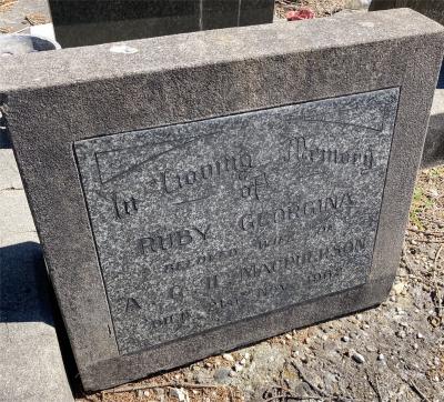 Picture of Ormond cemetery, block ORM3, plot 13.