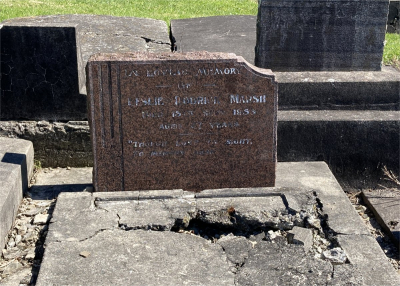 Picture of Ormond cemetery, block ORM3, plot 21.
