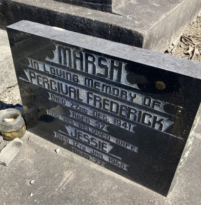 Picture of Ormond cemetery, block ORM3, plot 22.