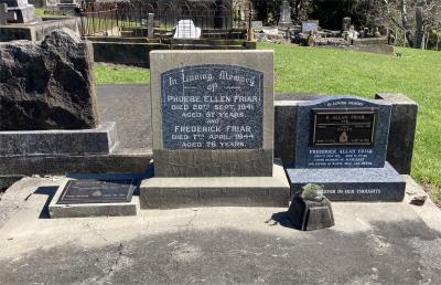 Picture of Ormond cemetery, block ORM3, plot 25.