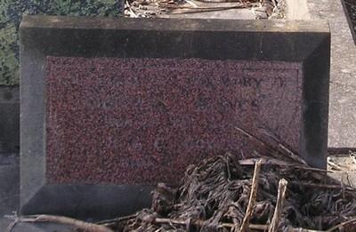 Picture of Ormond cemetery, block ORM3, plot 54.
