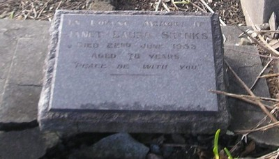 Picture of Ormond cemetery, block ORM3, plot 57.