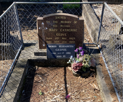 Picture of Ormond cemetery, block ORM3, plot 72.
