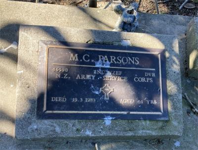 Picture of Ormond cemetery, block ORM3, plot 88.