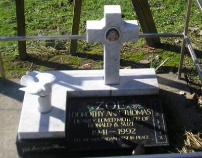 Picture of Ormond cemetery, block ORM3, plot 96.