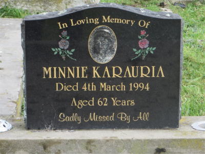 Picture of Rakauroa cemetery, block RAK/8, plot 7.