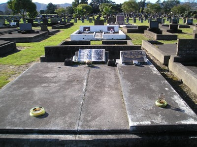 Picture of Taruheru cemetery, block 12, plot 117.