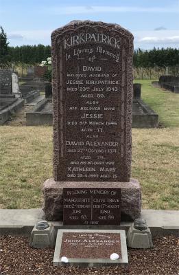 Picture of Taruheru cemetery, block 15, plot 24.
