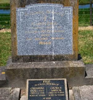 Picture of Taruheru cemetery, block 15, plot 96.