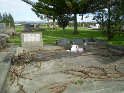 Picture of Taruheru cemetery, block 16, plot 17.