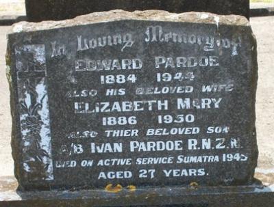 Picture of Taruheru cemetery, block 16, plot 30.
