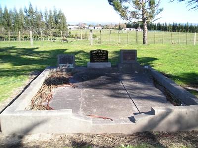 Picture of Taruheru cemetery, block 16, plot 57.