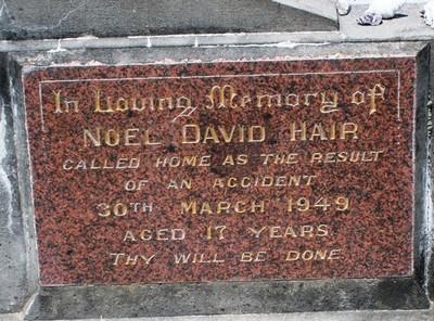 Picture of Taruheru cemetery, block 16, plot 6A.