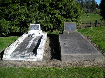 Picture of Taruheru cemetery, block 17, plot 87.