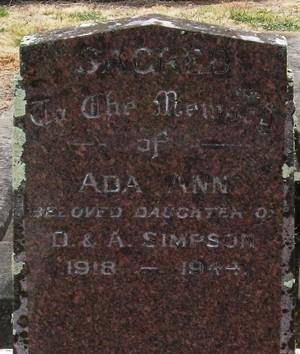 Picture of Taruheru cemetery, block 18, plot 43.