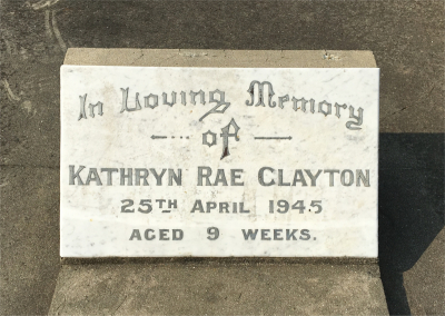 Picture of Taruheru cemetery, block 19, plot 42.