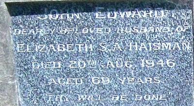 Picture of Taruheru cemetery, block 20, plot 156.