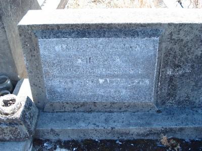 Picture of Taruheru cemetery, block 21, plot 150.