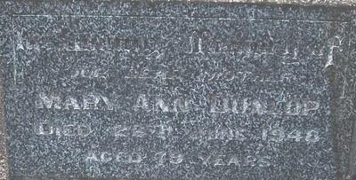 Picture of Taruheru cemetery, block 21, plot 18.