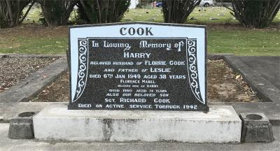 Picture of Taruheru cemetery, block 21, plot 322.