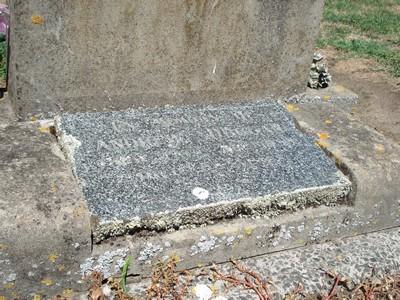 Picture of Taruheru cemetery, block 22, plot 240.