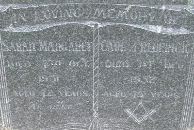 Picture of Taruheru cemetery, block 22, plot 46.
