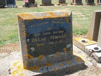 Picture of Taruheru cemetery, block 25, plot 107.