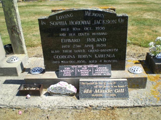 Picture of Taruheru cemetery, block 25, plot 90.