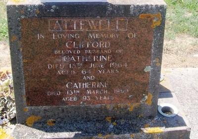 Picture of Taruheru cemetery, block 26, plot 120.