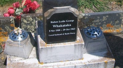 Picture of Taruheru cemetery, block 26, plot 14.