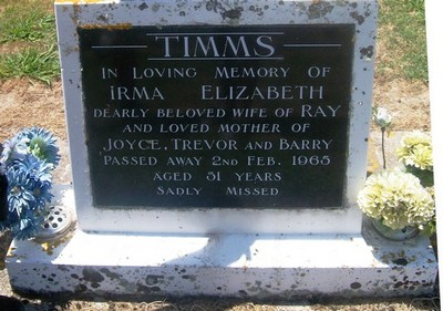 Picture of Taruheru cemetery, block 26, plot 178.