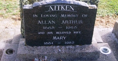 Picture of Taruheru cemetery, block 26, plot 291.