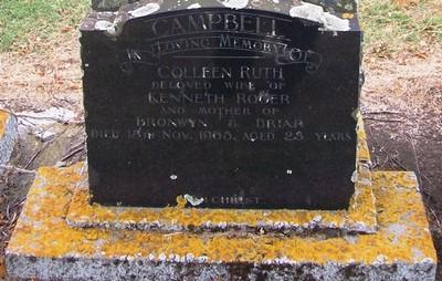 Picture of Taruheru cemetery, block 26, plot 309.