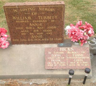 Picture of Taruheru cemetery, block 26, plot 380.