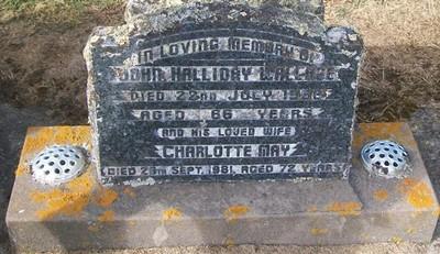 Picture of Taruheru cemetery, block 26, plot 397.