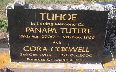 Picture of Taruheru cemetery, block 26, plot 456.