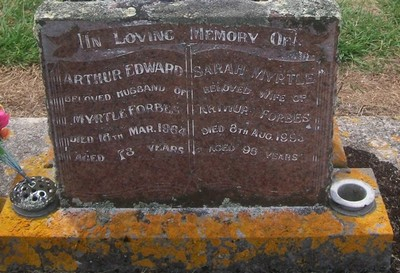 Picture of Taruheru cemetery, block 26, plot 59.